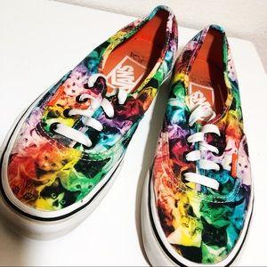 Vans SPCA Rainbow Cat Sneakers Size 6.5